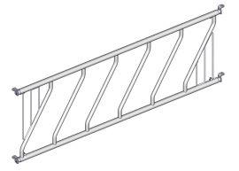 DIAGONÁLNÍ žlabová zábrana