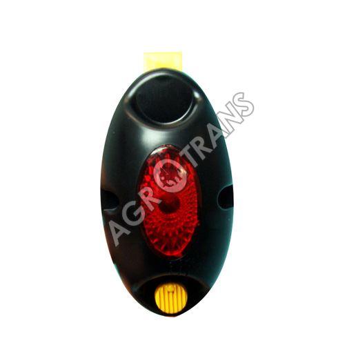 Záblesková kontrolka oválná-červená