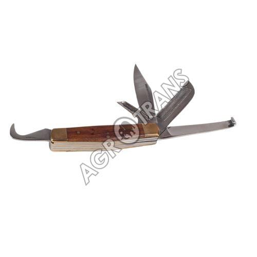 Paznehtní nůž zavírací multifunkční