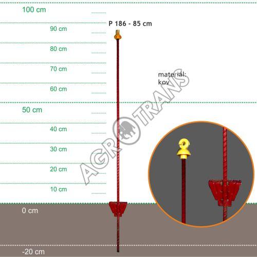 Stojka pro výpas 85cm, kovová oválná