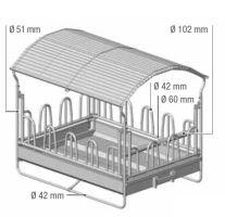 Krmelec palisádový, 14 míst pro skot 2x3m