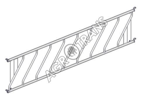 DIAGONÁLNÍ žlabová zábrana 8 míst- délka 4m