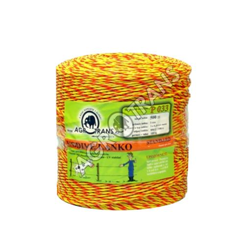Lanko splétané 3vodiče - 500m, žluto/oranžové