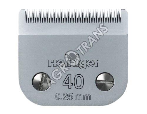 Stříhací hlava Heiniger č.40 – 0,25mm, VET