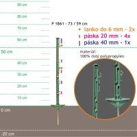 Stojka pro výpas 73/59cm, kovový hrot