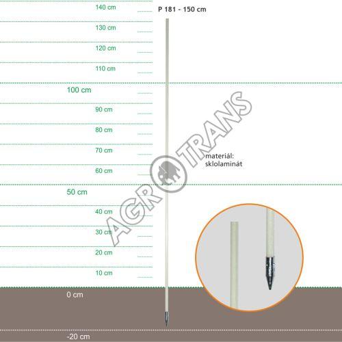 Stojka sklolaminátová 150cm, kovový hrot