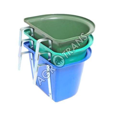 Krmný kbelík bez ucha závěsný půlkruhový 12l
