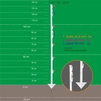 Stojka pro výpas 155/133cm, kov. hrot, bílá