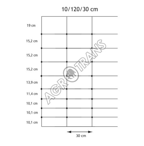 Pletivo Cyclone® 10/120/30