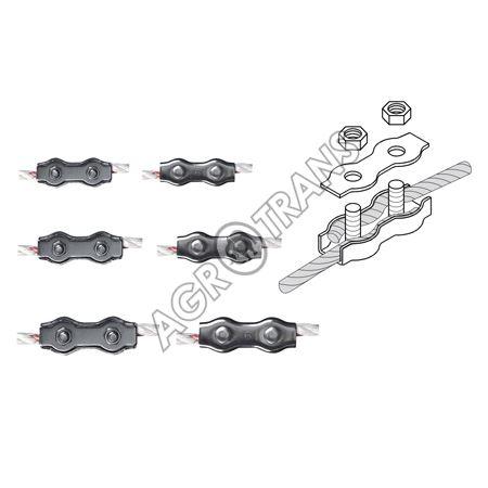 Spojka pozinkovaná dvojitá na lanka a lana