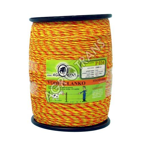 Lanko splétané 3vodiče - 1000m, žluto/oranžové