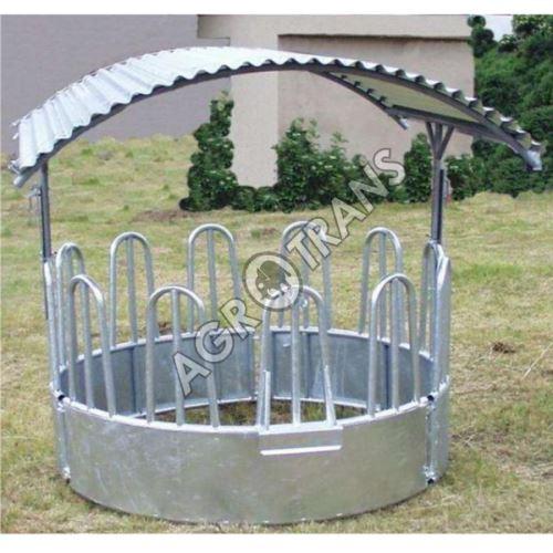 Krmelec kruhový pro skot, koně 12míst - bez střechy