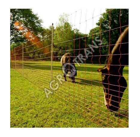 Vodivá síť pro koně JUMBO, výška 145 cm, délka 50 m, 2hroty