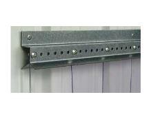 Montážní pevná svěrná pozinkovaná lišta pro PVC závěsy, délka 1m.