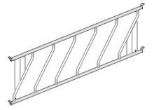DIAGONÁLNÍ žlabová zábrana 5 míst- délka 3m