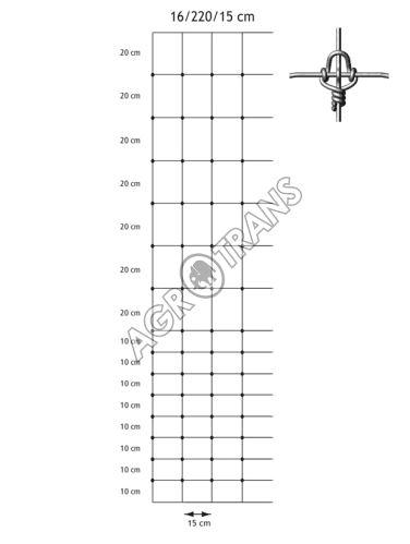 Pletivo Cyclone® 16/2200/150