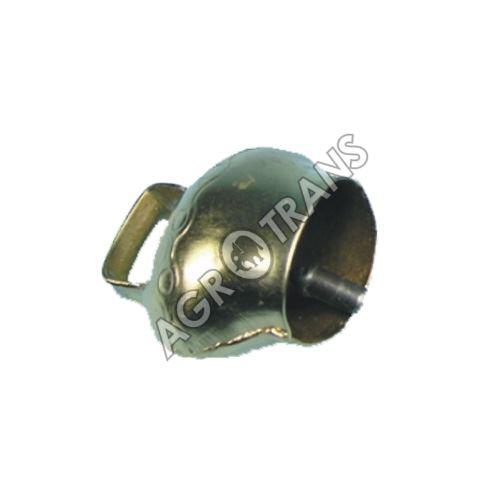 Zvonec plechový mosazný 9 cm