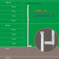 Stojka pro výpas ISOPOST 114/90cm,kov. hrot,bílá