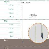 Stojka sklolaminátová 115cm, kovový hrot