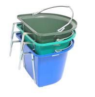 Krmný kbelík s uchem závěsný půlkruhový 12l - zelený