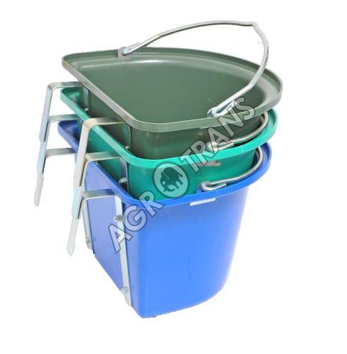 Krmný kbelík s uchem závěsný půlkruhový 12l