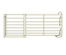Panel rovný zvýšený s brankou pro ovce a kozy 1,1 m / 2,75 m