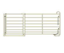 Panel rovný zvýšený s brankou pro ovce a kozy