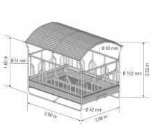 Krmelec FESTON, 14 míst pro bezrohý skot, 2x3m