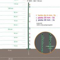 Stojka pro výpas 128/110cm kov.hr. zelená