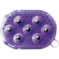 Hřbílko masážní kuličkové - fialové